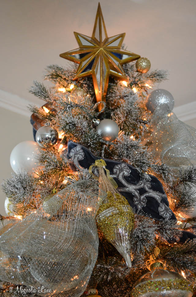 Blue and metallic Christmas tree from Balsam Hill | 11 Magnolia Lane