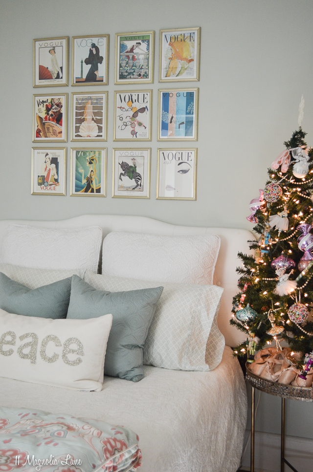 Christy's 2017 Holiday Home Tour | Nutcracker-themed Christmas tree in a teen girl's pale aqua room | 11 Magnolia Lane