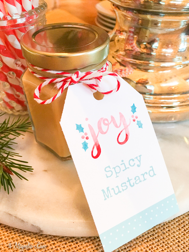 Free printable labels and recipe for delicious homemade mustard | 11 Magnolia Lane