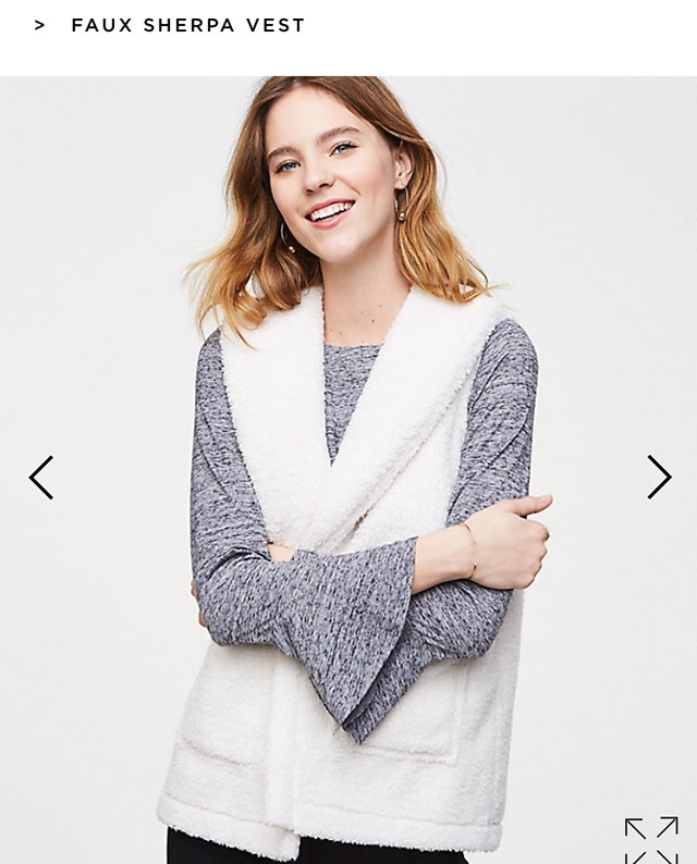 Cute faux sherpa vest on sale