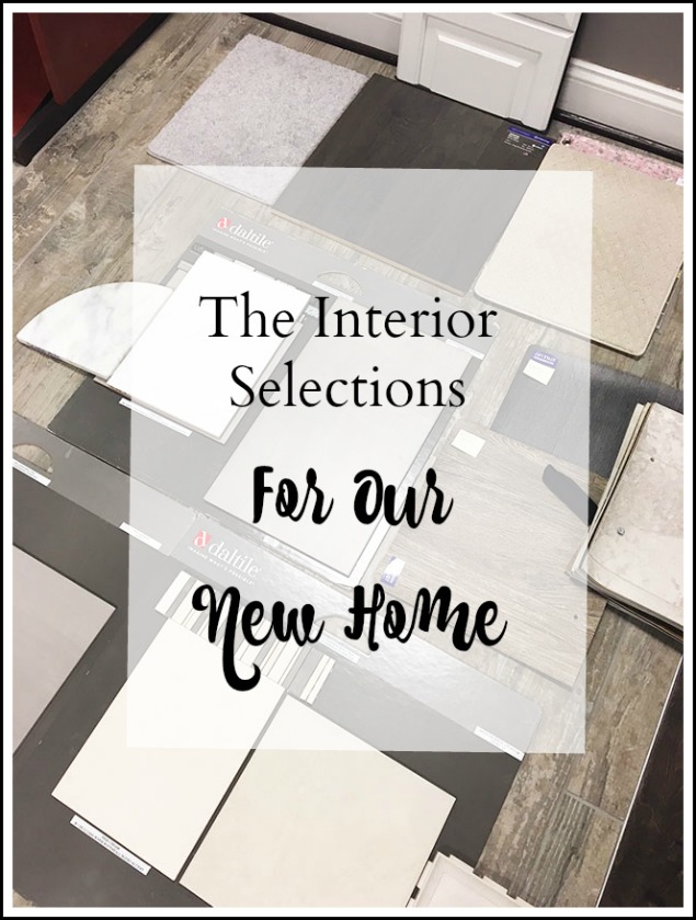 About Our New Home–The Interior Selections