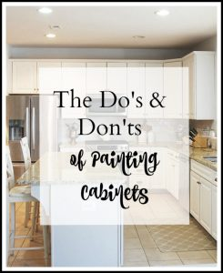 The Do's and Don'ts to easily paint your kitchen cabinets. A step by step guide how to paint kitchen cabinets as easily as possible.