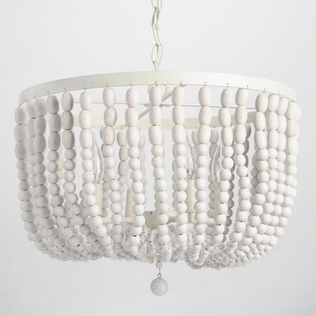 Affordable White Beaded Chandelier