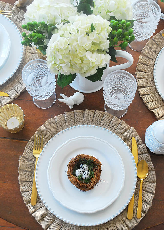 Beautiful Spring Tables Tour–An Easter Tablescape