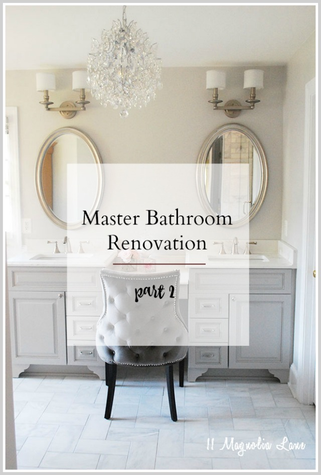 The Master Bathroom Renovation {Part 2–Reveal!}