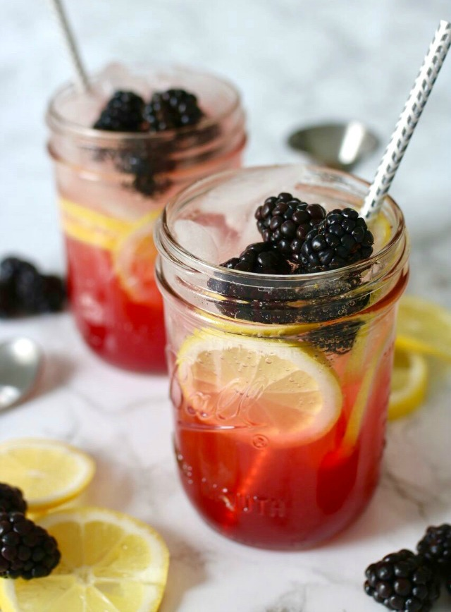 Spiked Blackberry Lemonade from Be Mixed