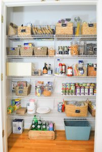Organizing Our Double Pantry {Real Food Organization}