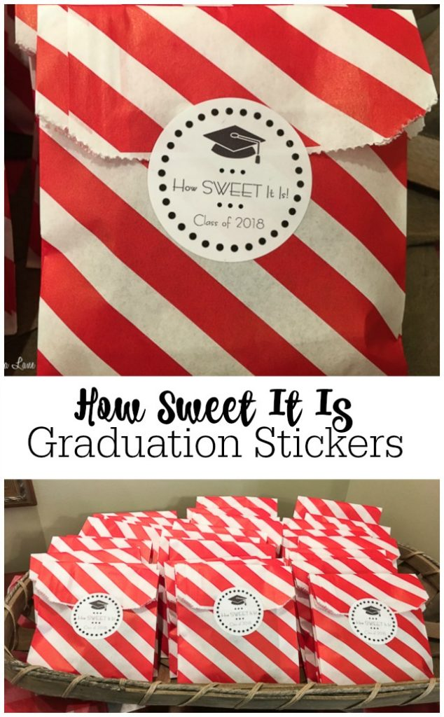 How Sweet It Is free printable round graduation stickers labels for Class of 2018 | 11 Magnolia Lane