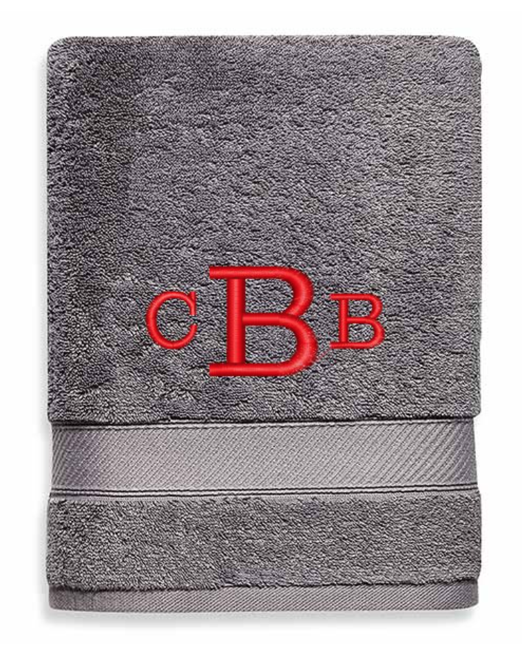 Monogrammed bath towels