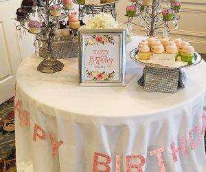 Surprise 75th birthday party celebration