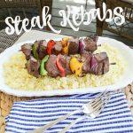 Delicious and easy (i.e. kid-friendly!) steak kebab recipe for the grill | 11 Magnolia Lane