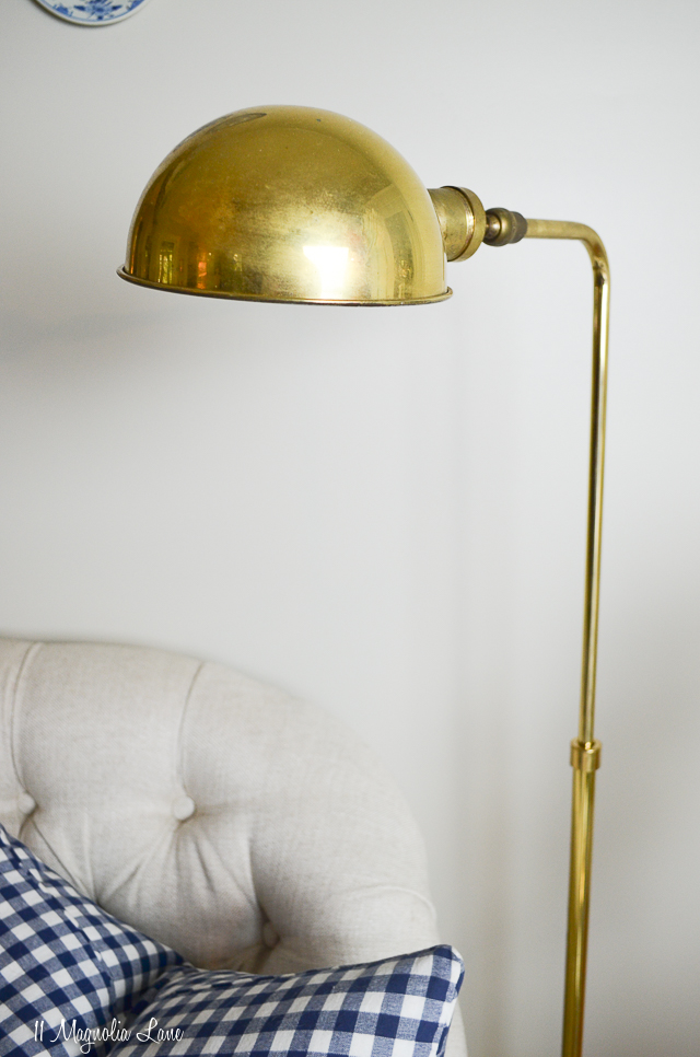 Vintage brass floor lamp | 11 Magnolia Lane