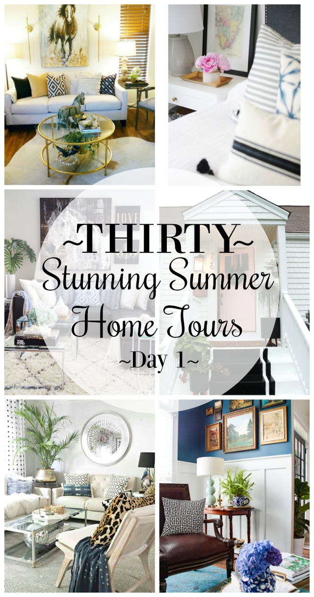 Six stunning summer home tours for plenty of decorating inspiration!