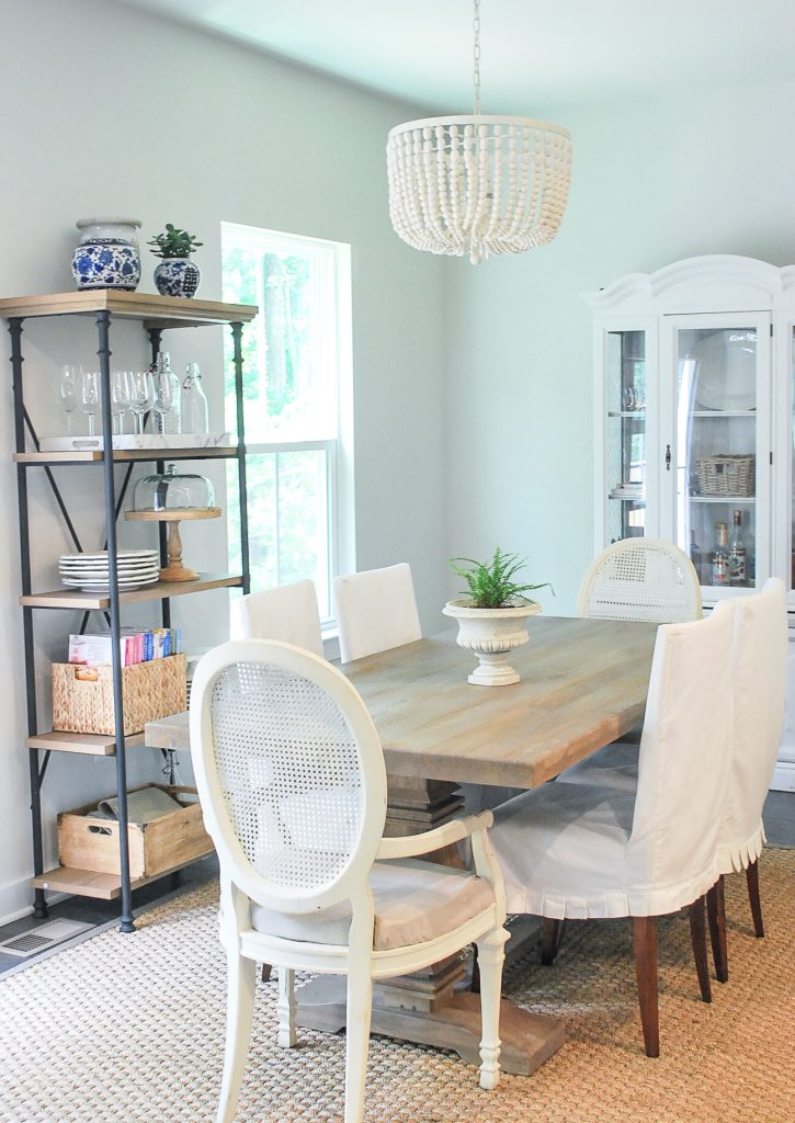 Amy's New Breakfast Room featuring the Aldridge Dining Table from the Home Decorators Collection at Home Depot