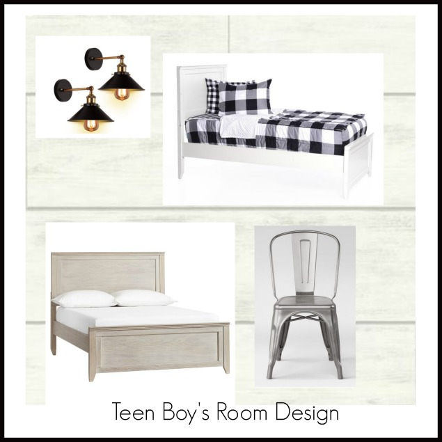 easy black and white affordable decor for a teenage boys room