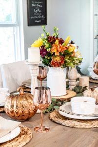 Fall Tablescape with Copper & Gold