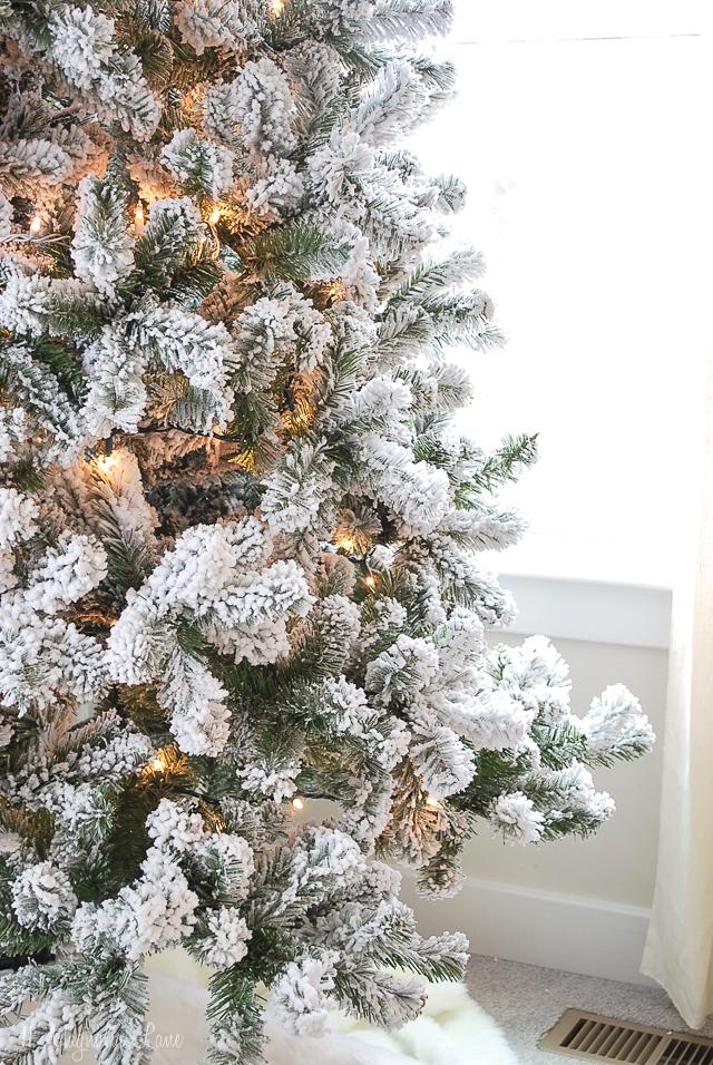 Popular Affordable Flocked Christmas Trees 11 Magnolia Lane
