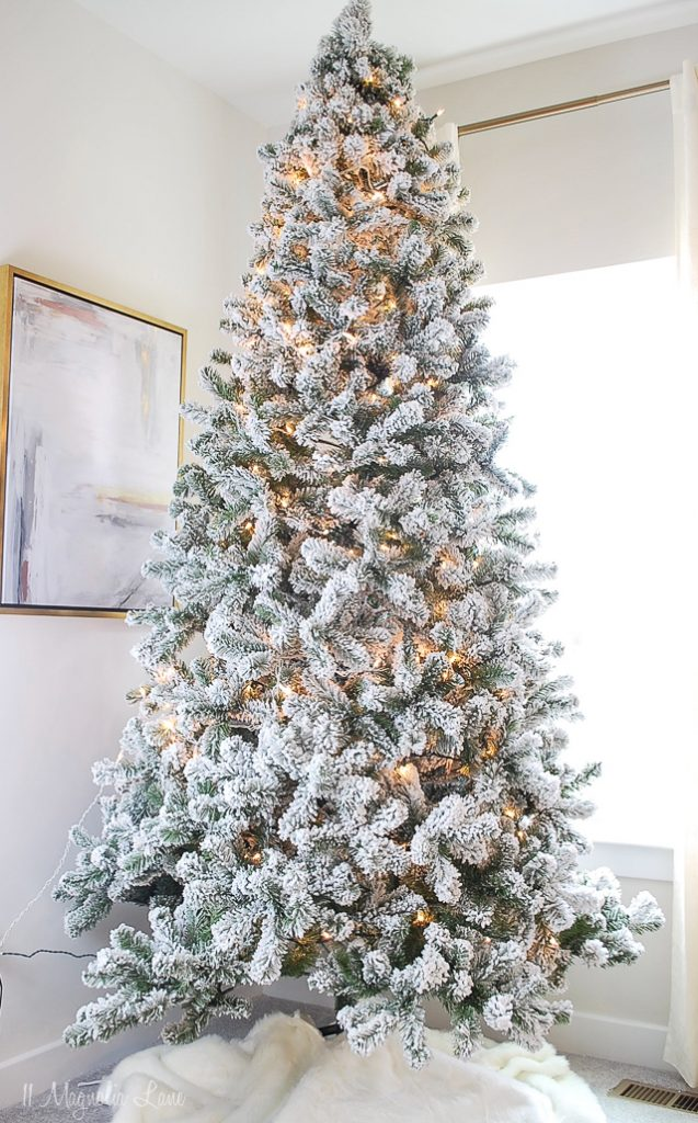 Popular + Affordable Flocked Christmas Trees | 11 Magnolia ...