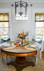 Thanksgiving table for four | 11 Magnolia Lane