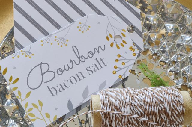 Bourbon Bacon Salt-easy DIY gift recipe-free printable labels | 11 Magnolia Lane