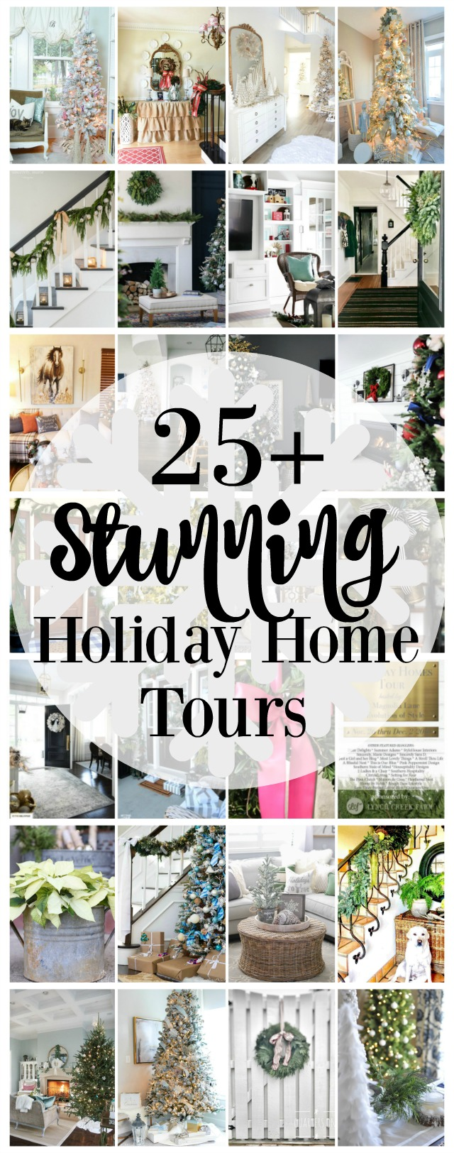 Twenty-seven blogger holiday homes, decorated for Christmas.  So much inspiration for every style of decorating from farmhouse, to preppy, to hygge, to traditional, and more! Hosted by 11 Magnolia Lane and Evolution of Style.