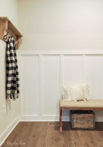 Easy Weekend DIY--Installing Board & Batten in a Mudroom or Hallway