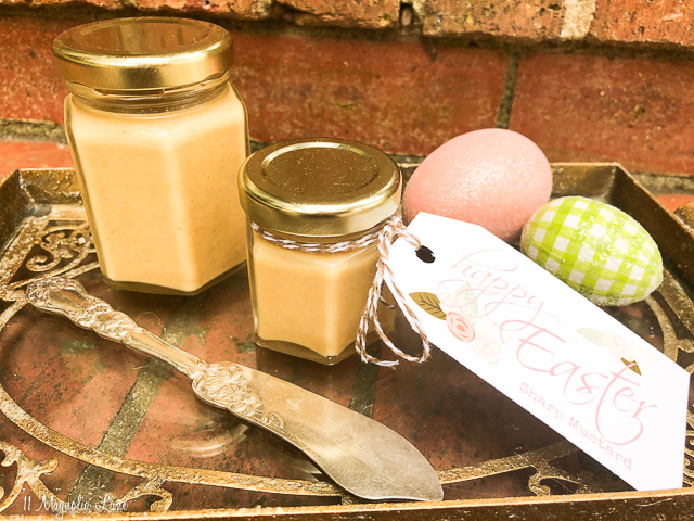 Easter Hostess Gift: Homemade Sharp Mustard Recipe and Printable Easter Tags | 11 Magnolia Lane