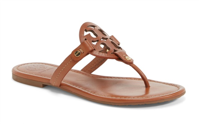 Tory Burch Miller Sandals in Vintage Vachetta Leather
