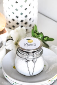 Lemon Sugar Scrub Gift Recipe {Mother's Day/Teacher Appreciation}