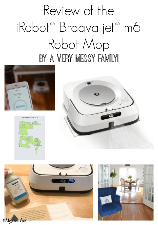 Detailed review of the iRobot Braava m6 robot mop that mops, sweeps, and cleans floors | 11 Magnolia Lane