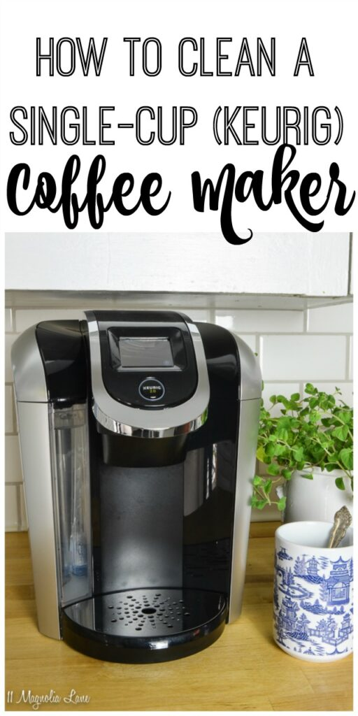 How to clean a single cup (Keurig) coffee maker with a steamer steam cleaner | 11 Magnolia Lane