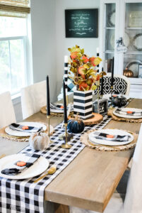 A {Not Scary} Halloween Tablescape
