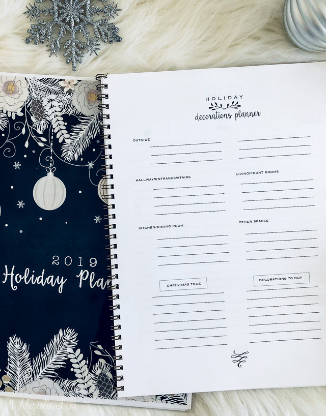 A free holiday printable planner to help organize your holidays