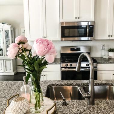 Easy way to update your kitchen backsplash with peel and stick subway backsplash tile