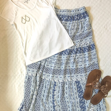 easy and affordable summer outfits appropriate for hot days and women over forty