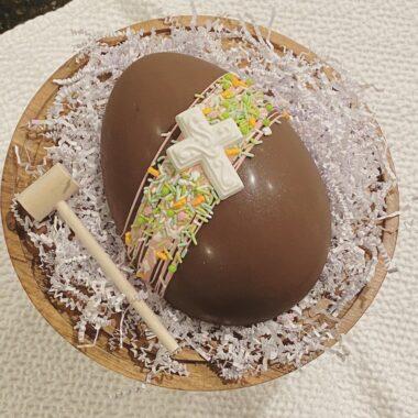 Easter Chocolate Mold Smash Cake Dessert