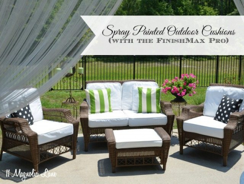 DIY Painted Outdoor Cushions and a Paint Sprayer Giveaway ...