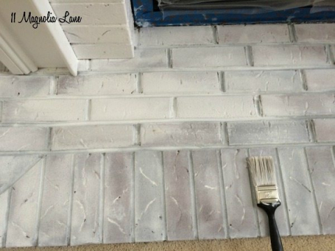 Super How To Paint Your Fireplace Brick Surround 11 Magnolia Lane Download Free Architecture Designs Grimeyleaguecom