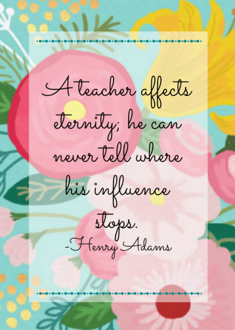 picture about Free Printable Teacher Appreciation Quotes named Trainer Appreciation: No cost Printables 11 Magnolia Lane