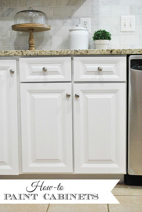 How to Paint Your Kitchen Cabinets–Tips & Tricks for a ...