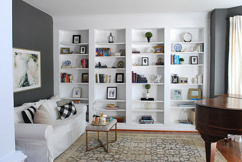info for 057a8 f7e03 Built-in Bookshelves from IKEA Billy Bookcases–How to do it ...